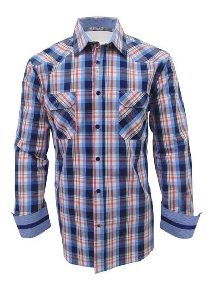 Camisa Casual Manga Larga Caballero English Laundry Azul