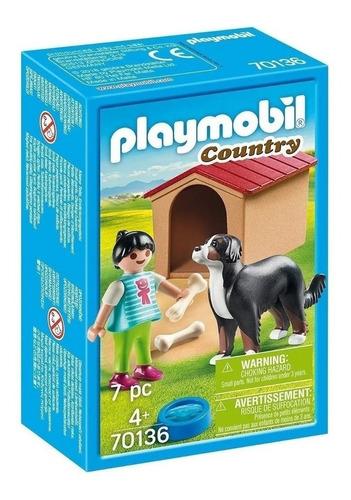 Imagen 1 de 5 de Playmobil Country Nena Con Perro 70136