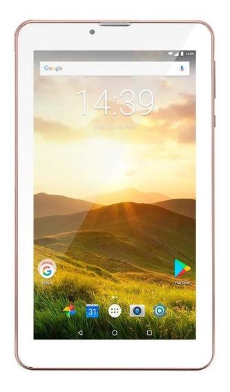 Tablet Multilaser 4g M7 Plus Função Celular Gold Rose Nb286
