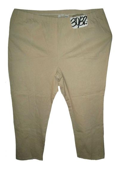 Pantalon Beige Casual Stretch Talla 5x Extragrande (50/52)