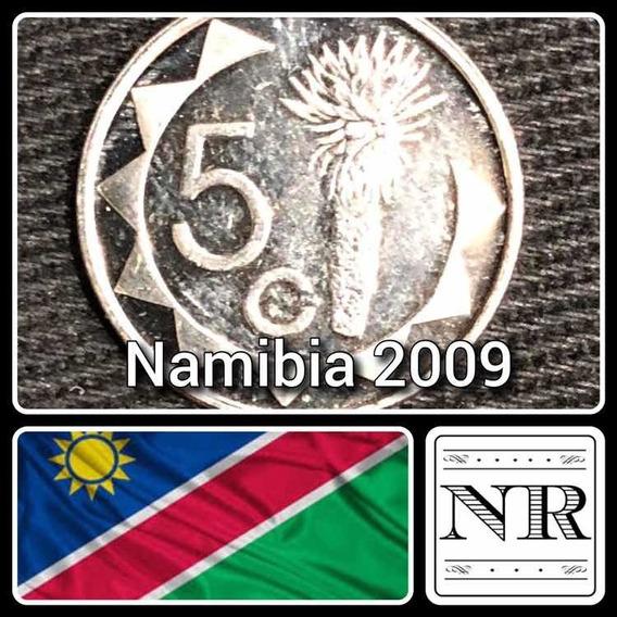 Namibia - 5 Cents 2009 - Km # 1 - Planta De Aloe