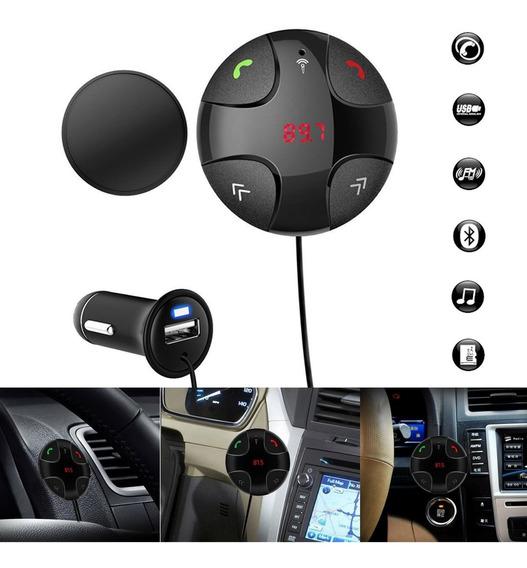 Sem Fio Bluetooth Fm Transmissor Handsfree Kit Carro Mp3 Pla