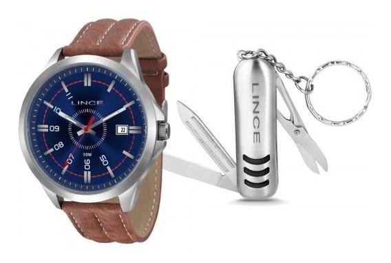 Relógio Lince Mrc4363s Kt42d2mb Kit Chaveiro Masc- Refinado