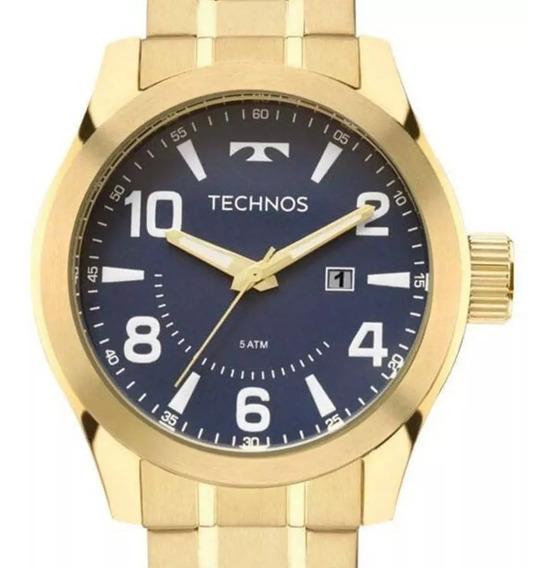 Relógio Technos Prateado Masculino 2036lnw/1y Original C/nf