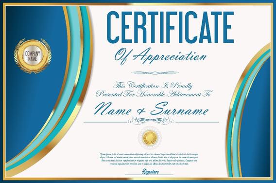 320 Vetores Certificados Diplomas Vetor Corel Illustrator