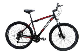 Bicicleta Aro 29 Shimano 21v Freedom Freio Disco Preto/verme