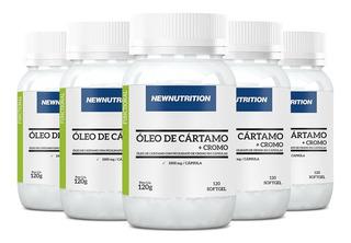 Óleo De Cártamo + Cromo - 5x 120 Cápsulas - Newnutrition
