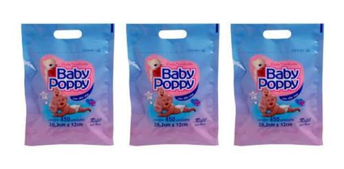 Opus Baby Poppy Lenços Umedecidos Refil C/450 (kit C/03)