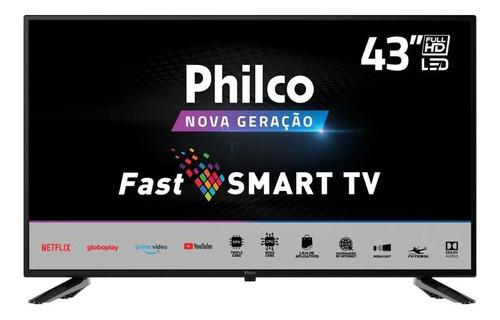 Imagem 1 de 6 de Fast Smart Tv Philco 43 Ptv43e10n5sf Fhd D-led Preto Bivolt