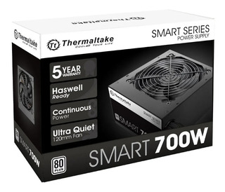 Fuente Gamer Thermaltake 700w Real Smart 80 Plus Certificada