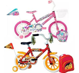 Bicicleta Rodado 12 Nena Niña Stark Rueditas / Envio Gratis
