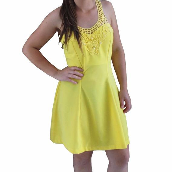 Vestido Formosa Com Guipir Com Bojo Amarelo