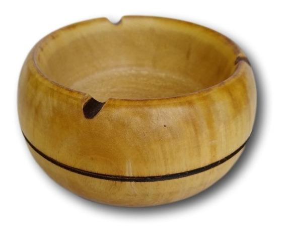 Cinzeiro De Madeira Artesanal Ref: 9506