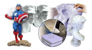 Resina Plastica Liquida Cast 320 X 430g Estatuas Replicas