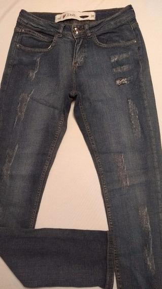 Calça Feminina Jeans Puídos Rf33! Queima D Estoque