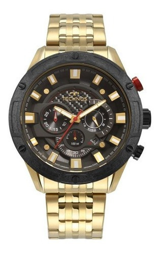 Relógio Technos Masculino Ref: Js25ce/4p Cronógrafo Dourado