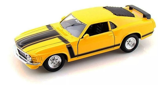 Auto A Escala 1/24 Ford Mustang Boss 302 1970 Maisto - Luico