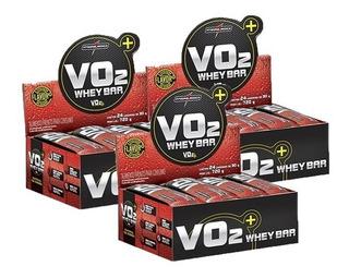 Whey Bar Vo2 - 3 Caixas - 72 Unidades - Sabores