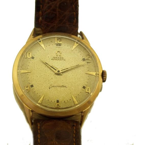 Relógio Pulso Omega Seamaster Automatico Em Ouro 18k J22102