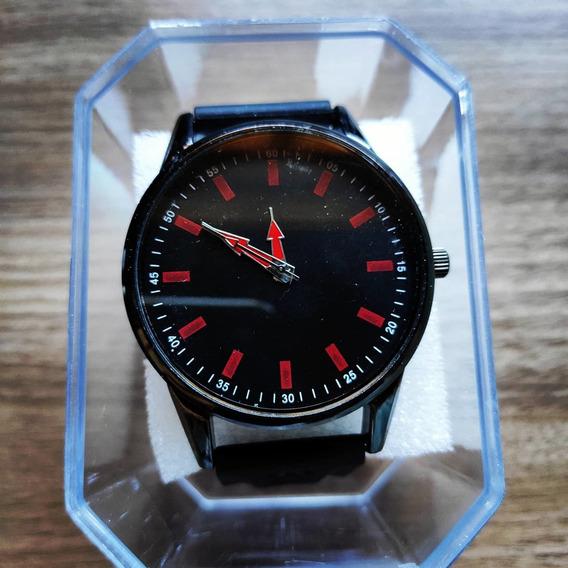 Relógio Masculino Alpha - Black Red - Pronta Entrega