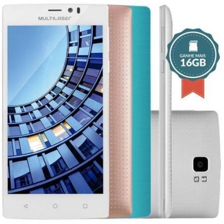 Smartphone Multilaser Ms60 Colors Dual P9006 Branco + 2 Capa