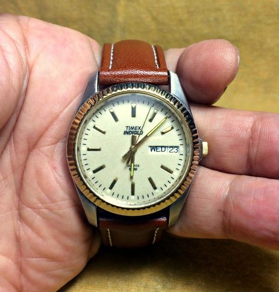 Relógio Timex Masc. Two Tone Calendário, Social, Indiglo