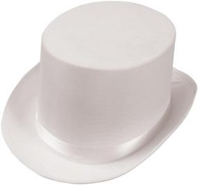 Sombrero De Copa Adulto Satinado (blanco) (talla Única Para