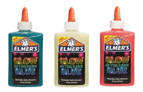 3 Adhesivos Elmer`s Glow In The Dark Glue X 147ml