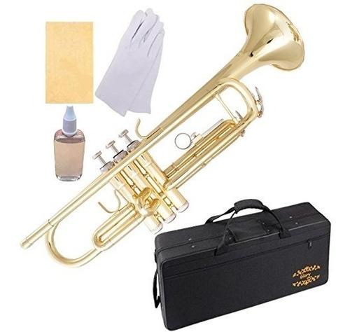 Glory Brass Bb Trompeta Con Kit Pro Care + Care, Dorado, Si
