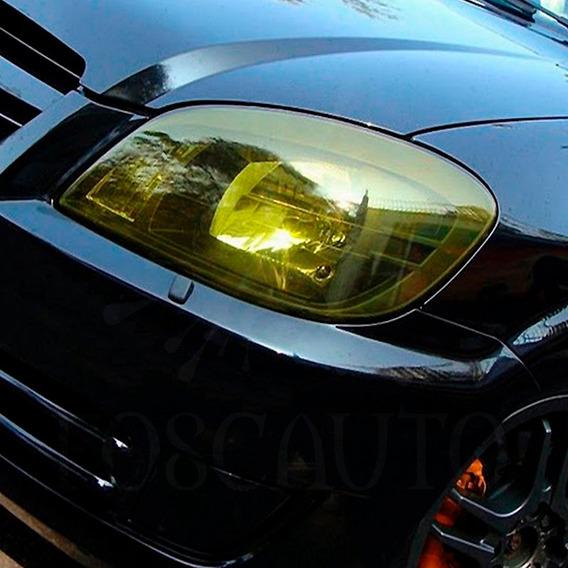 Adesivo Amarelo Euro Look Farol Milha Moto Carro - 1m X 30cm