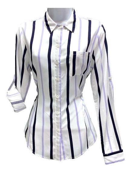 Blusa De Dama Rayada En Tres Colores