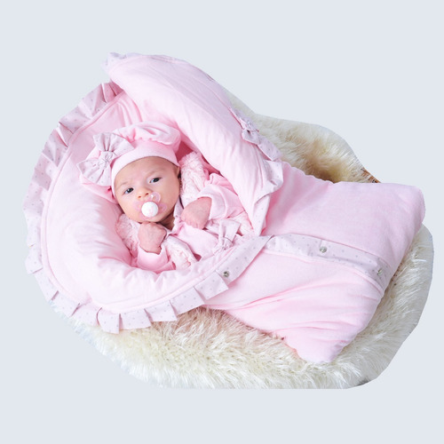 Saida Maternidade Inverno Menina Rosa Charmosa