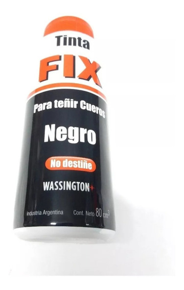 Wassington Tinta Fix Para Teñir Cueros Negro X 80cm3