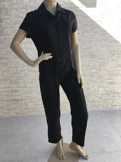 Conjunto De Blusa E Calça Preto Armani Jeans