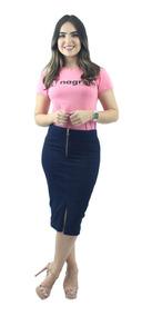 Combo 2 Saias Femininas Jeans Secretária Para Evangélicas