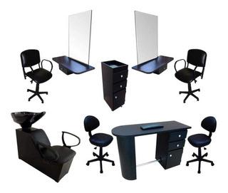 Muebles Para Estéticas Mod. America 9 Muebles Negro