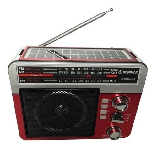 Radio Multibandas Portatil.,cargador Panel Solar Emergencias