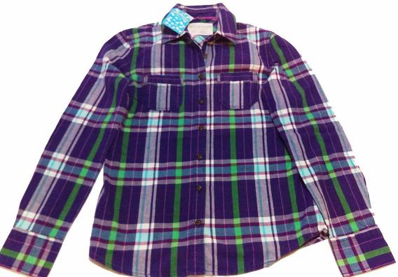 Camisa Niña Aeropostale, Talla Xs (12), Morada, Nueva, Origi