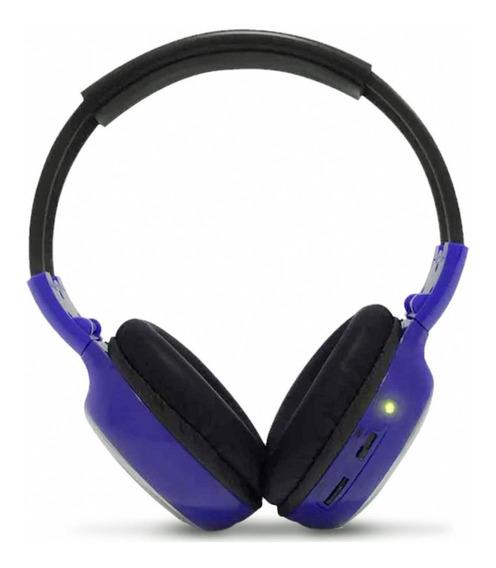 Fone De Ouvido Headphone Para Encosto De Cabeça Azul