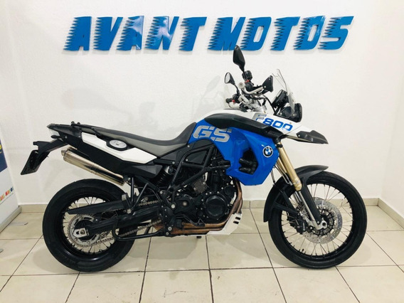 Bmw F 800 Gs 2012 Azul Maravilhosa Manual Chave Reserva