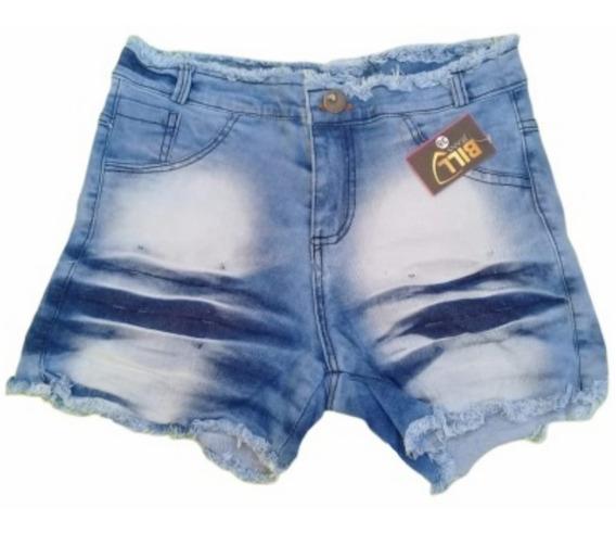 Lote Atacado 10 Shorts Feminino,cintura Alta