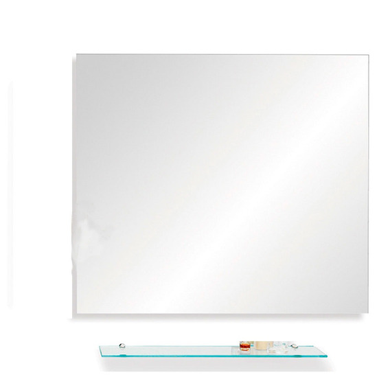 Espejo Rectangular Ole 70x50 Repisa Sin Interes Reflejar