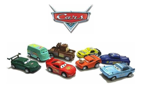 8 Carrinhos Coleção Carros 3 Disney Relâmpago Mc Queen