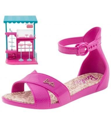 Sandalia Rosa Barbie Confeitaria Grendene 21921