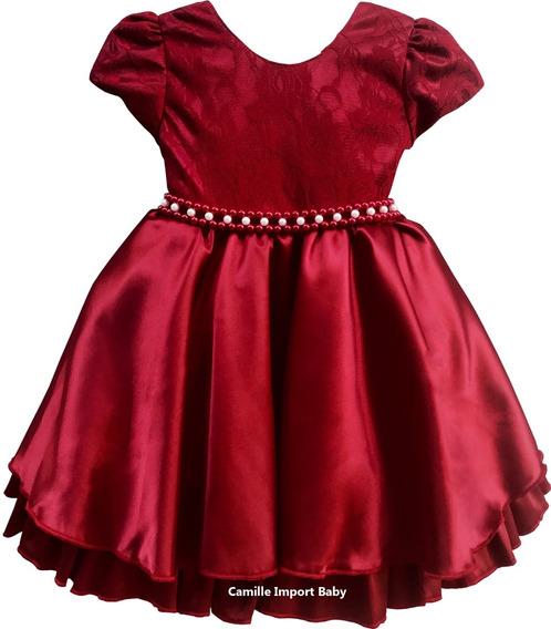 Vestido Festa Infantil Princesa Formatura Natal Com Tiara