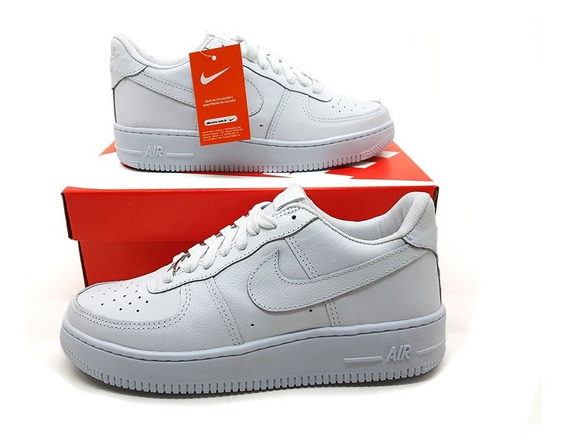 Tênis Air Force 1 W Branco Gelo Casual One Masculino Hype