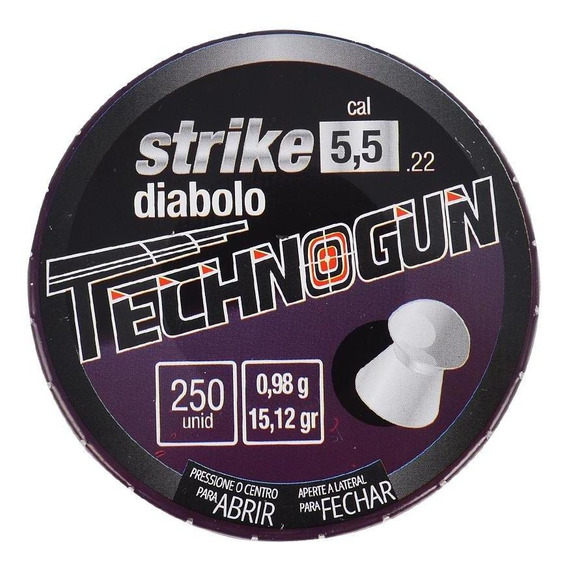 Chumbinho Carabina Pressão Technogun Strike 5.5mm 250un