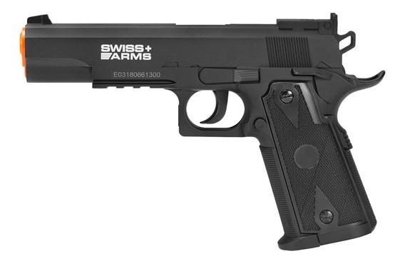 Pistola De Airgun À Gás Co2 Swiss Arms P1911 Match 4,5mm Gnb