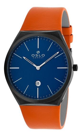 Relógio Masculino Slim Oslo Omyscs9u0001 D1ox Couro