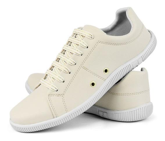 Sapato Sapatênis Tênis Casual Feminino Lc Oliveira Liso